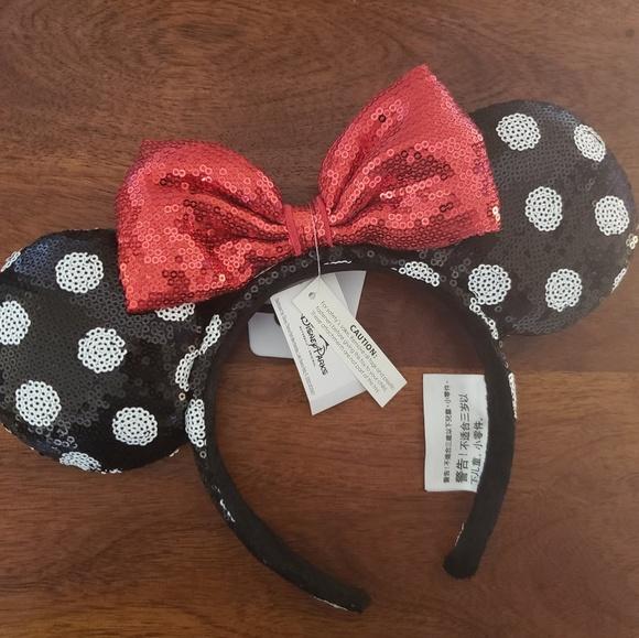 95975fee557 Disney Parks Sequin Minnie Mouse Ears Headband